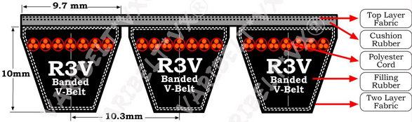 R3V Profile V Belts