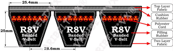 R8V Profile V Belts